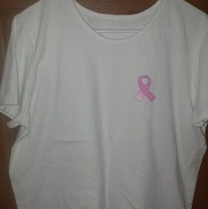 White breast cancer t shirt